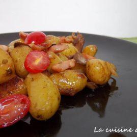 Poêlée de pommes de terre DÉLICATESSE®, lardons, champignons & tomates cerises