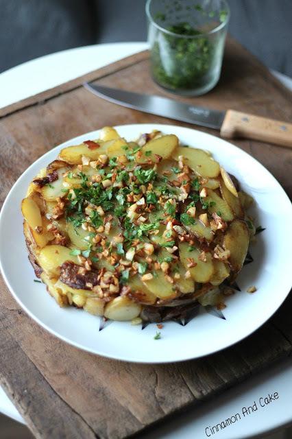Gâteau de pommes de terre délicatesse®, ail et persil