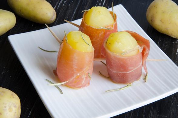 Makis de pommes de terre DÉLICATESSE® au jambon cru et romarin