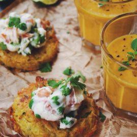 Criques de pommes de terre DELICATESSE®, légumes verts et saumon
