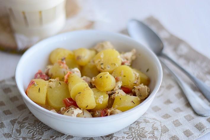 Pommes de terre DÉLICATESSE® à la dinde, moutarde et tomate