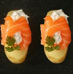 Palets de pomme de terre DELICATESSE®, saumon au sel et herbes fraîches