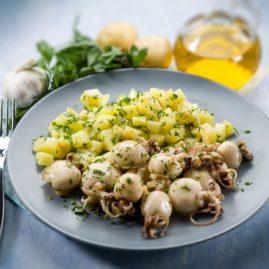 Salade de chipirons et pommes de terre
