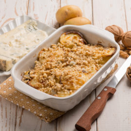Gratin de Pomme de terre Délicatesse, noix et Gorgonzola