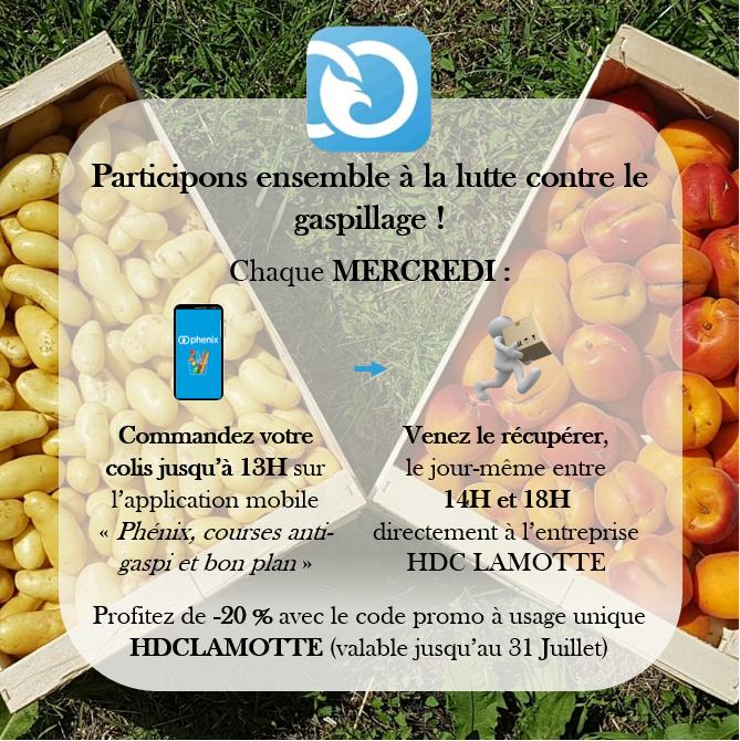 Lancement de l'action anti-gaspillage en partenariat avec Phénix !
