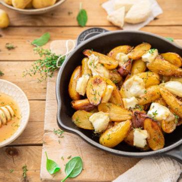Miam ! Pommes de terre Délicatesse rôties au miel et thym, picodon AOP de la Drôme