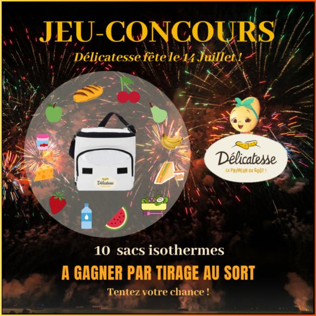 Jeu-Concours «Délicatesse fête le 14 Juillet !»