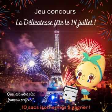 🎉 JEU CONCOURS – La Délicatesse fête le 14 juillet ! 🎉